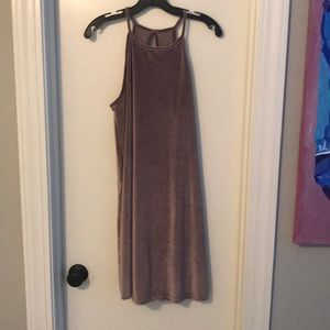 Purple velvet tunic dress